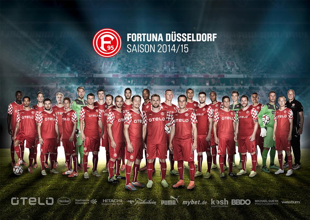 Fortuna Mannschaftsfoto Saison 2014/15